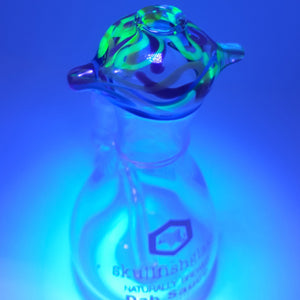 Skullfish Glass - UV Reactive Dab Sauce Rig - 10mm (F) - Camo Glow