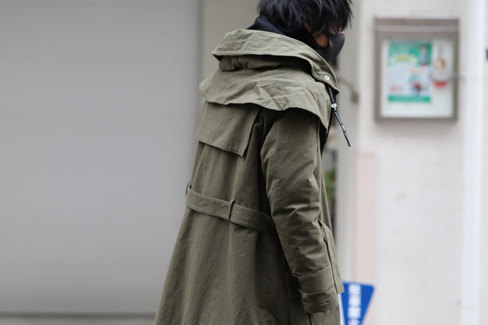 STYLING (AW20) - DEFORMATER MODS COAT+HOODIE SHIRT.