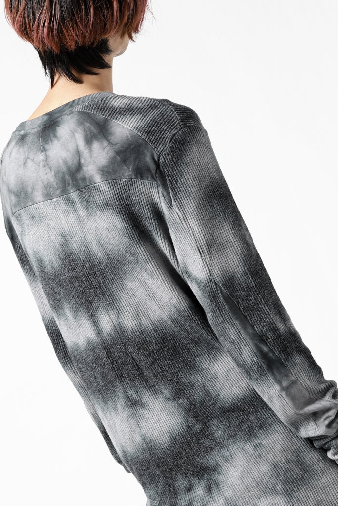 thomkrom DYEING LONG SLEEVE TOPS / STRETCH MIXED UP RIB