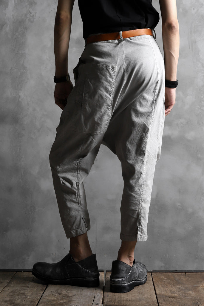 RUNDHOLZ DIP DROPCROTCH TAPERED PANTS / DYED COTTON TWILL