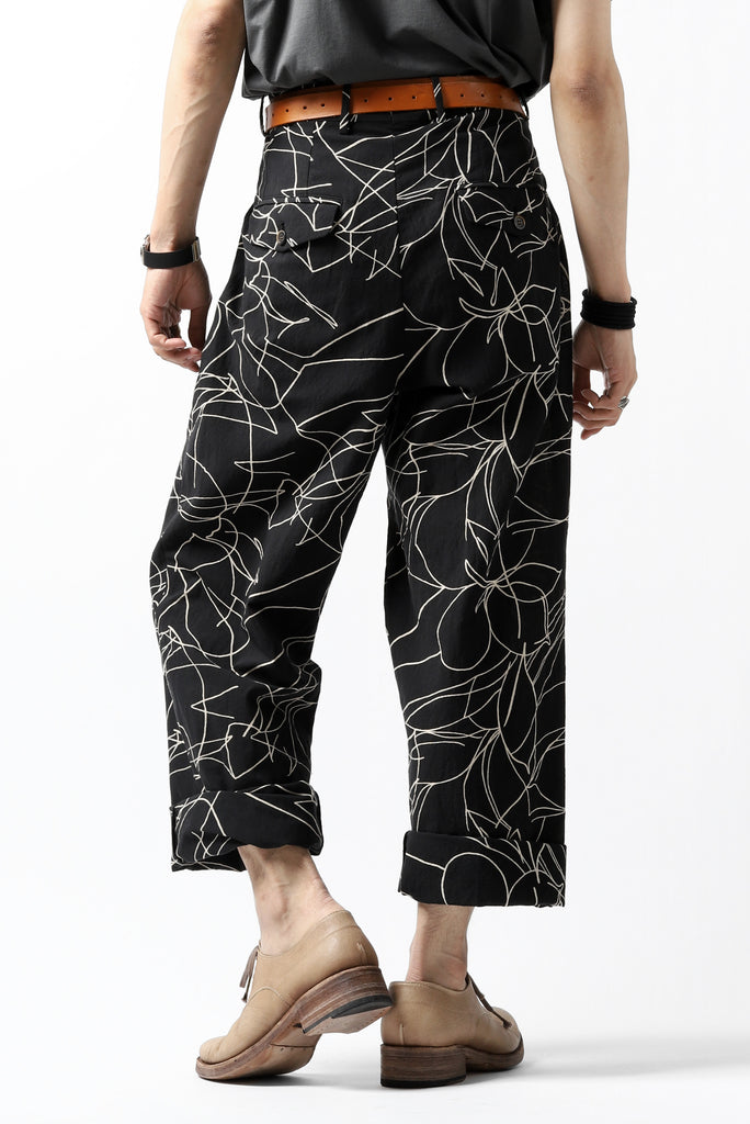 forme d'expression Narrow Tucked Wide Trousers