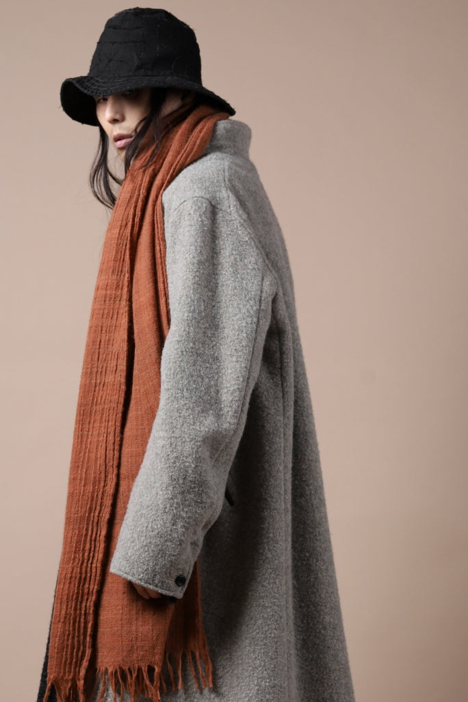 [ Stole ] blackcrow stole wool (PERSIMMON) Price / ¥19,800 - (in tax) Size / Free Color / Persimmon Material / Woven (Wool)