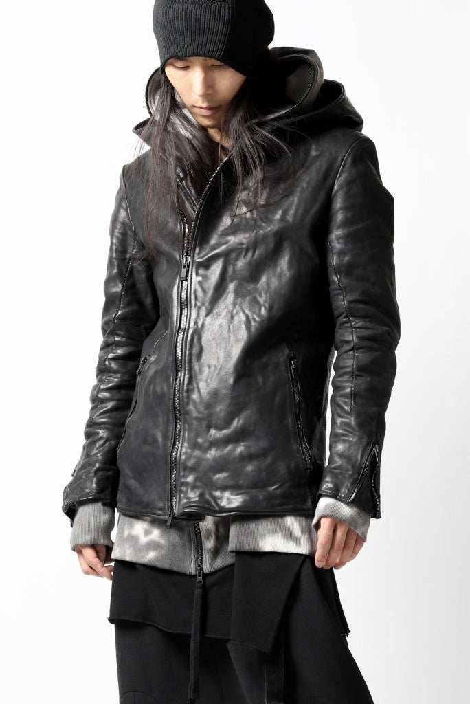 incarnation exclusive HOODED JACKET / HORSE FULL GRAIN (BLACK EDITION)