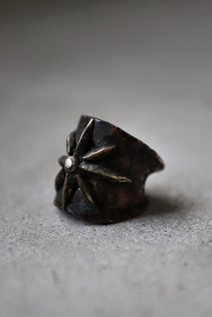 """BLOW THE WILD BRASSES HANDFORGED by JUN UEZONO """"GLORY RING""""N UEZONO """"GLORY RING"""""""