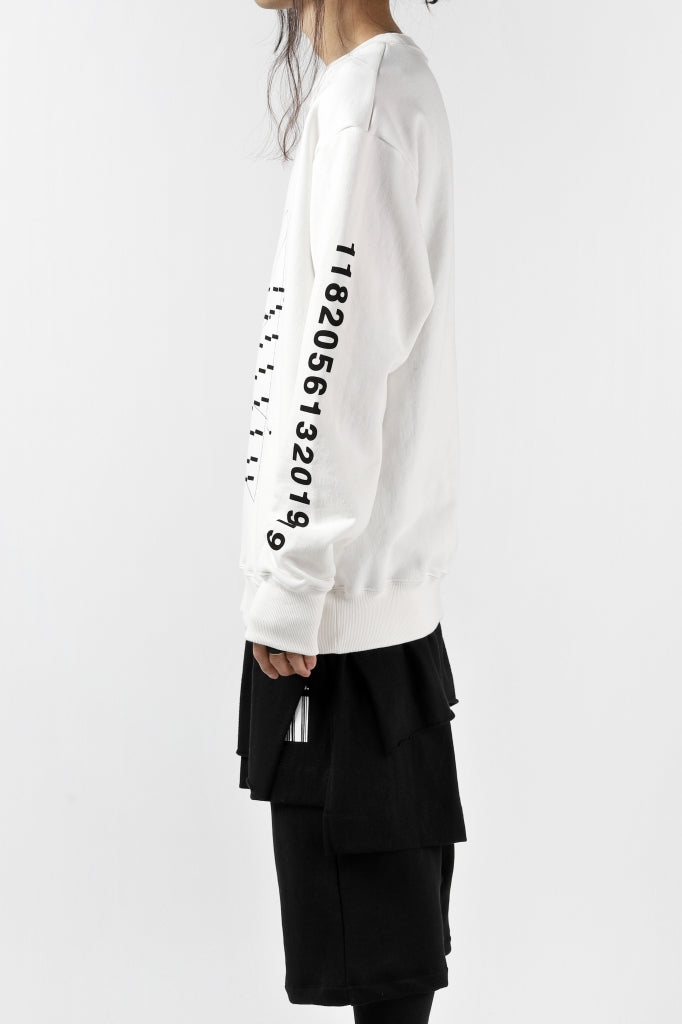 """A.F ARTEFACT """"GEOMETRY"""" SWEATER TOPS (WHITE)"""