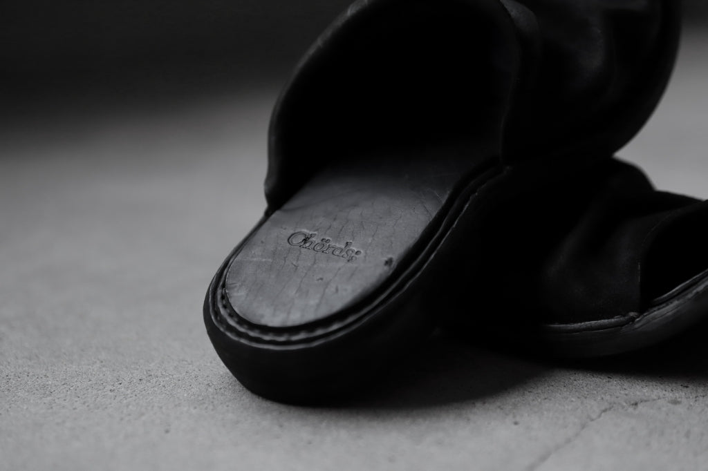 Chörds; DST. LEATHER SANDAL-SHOES / REVERSE HORSE BUTT