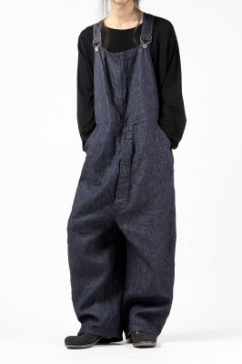 [ Over-All ] KLASICA MB OVERALL / DEEP DYED LINEN DENIM Price / ¥59,950 - (in tax) Size / 2 (*Fitting;2) Color / Navy Material / Woven (Irish Linen Denim)