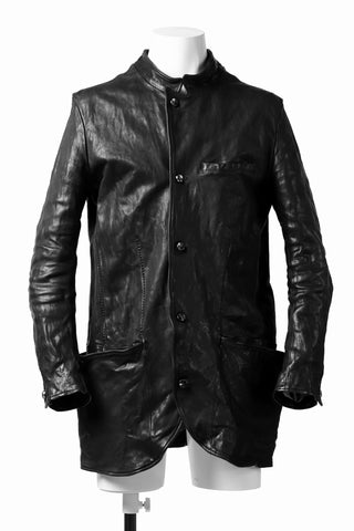 incarnation HORSE LEATHER 5 BUTTON FRONT JACKET / OBJECT DYED