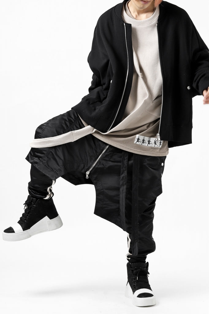 """[ Sneakers ] BORIS BIDJAN SABERI HORSE LEATHER MID CUT SNEAKER / WASHED & HAND TREATED """"BAMBA1.1-SIN"""" Price / ¥121,000 - (in tax) Size / 42 Color / Black×White Material / Vegetable Tanning Leather (Horse)"""