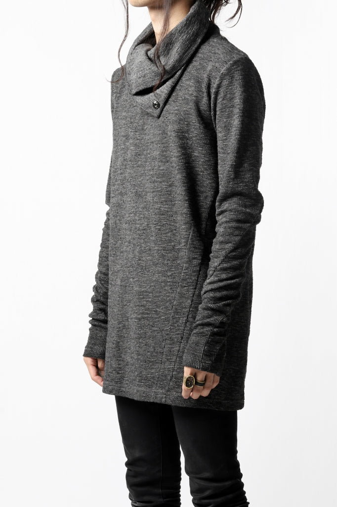 A.F ARTEFACT HIGH NECK WRAP TOPS / COLD DYED SLAB KNIT JERSEY