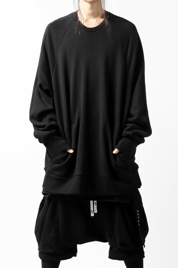 A.F ARTEFACT BOMBER PULLOVER TOPS / SWEAT JERSEY (BLACK)