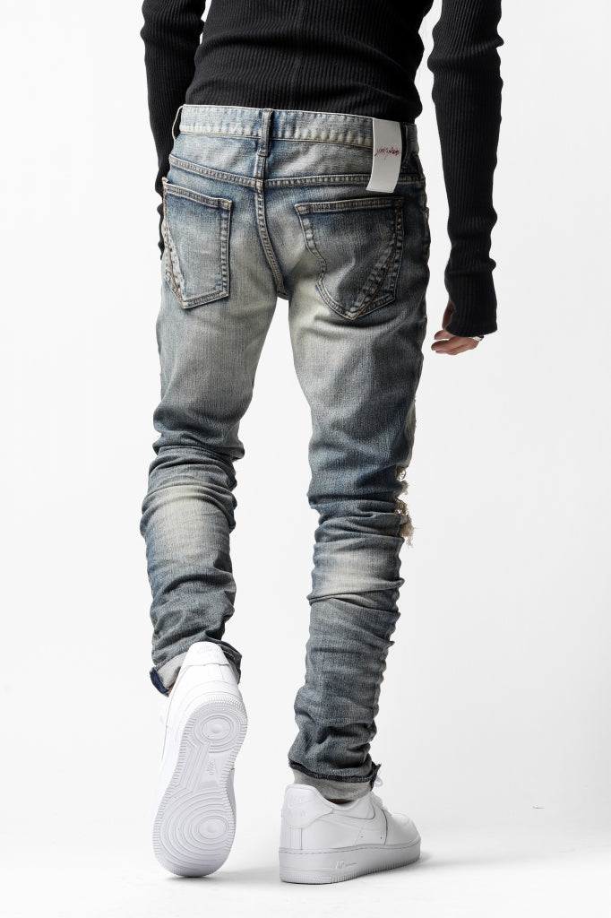 LOST ANGELS DISTRESSED DENIM PANTS / SKINNY SHAPE