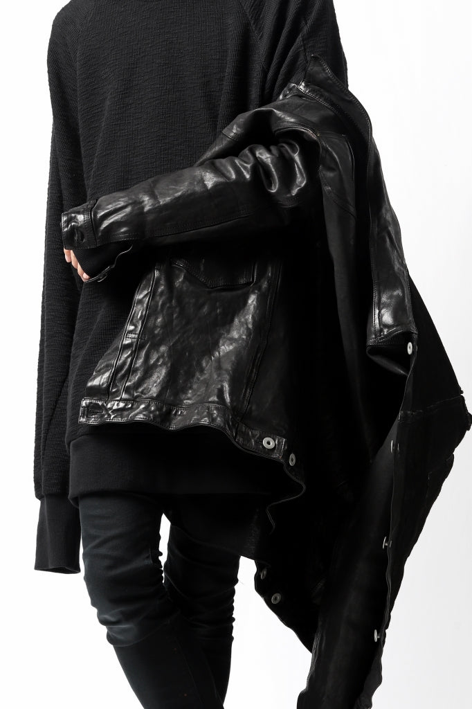 A.F ARTEFACT BOMBER PULLOVER TOPS / SLAB KNIT JERSEY
