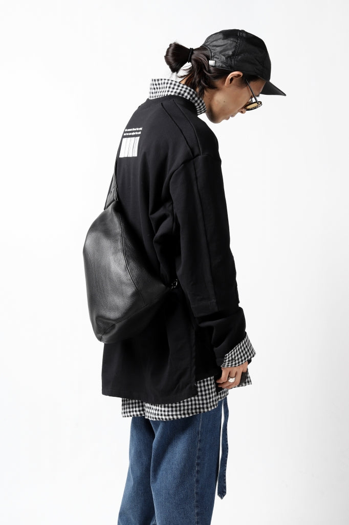 discord Yohji Yamamoto TUCK ONE SHOULDER BAG / NATURAL SHRINK CALF LEATHER
