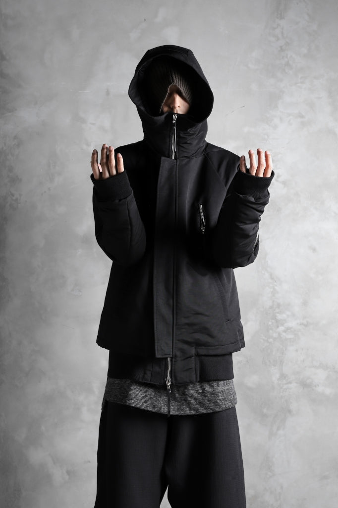 11 BY BORIS BIDJAN SABERI PADDED HOODIE JACKET.