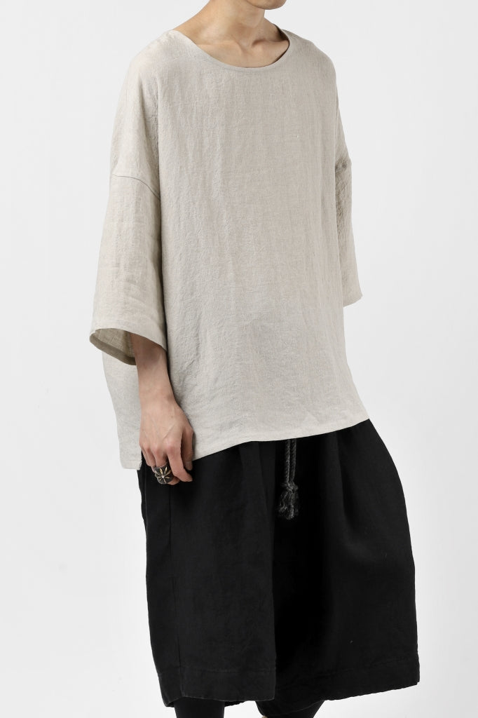 ISAMU KATAYAMA BACKLASH SOFT LINEN PULLOVER SHIRT