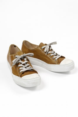 incarnation LOW CUT LACE UP SNEAKER / HORSE FULL GRAIN (HAND DYED)
