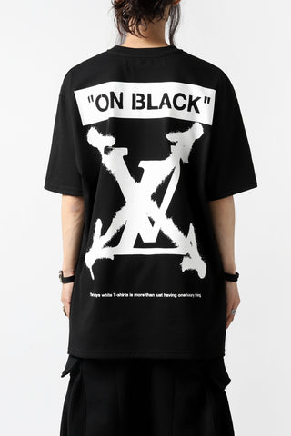 """[ T-shirt ] A.F ARTEFACT x buggy exclusive """"ON BLACK"""" T-SHIRT  Price / ¥16,500 - (in tax) Size / 2, 3 (*Fitting : 3) Color / Black x Orange Material / Luxury Jersey (Cotton)"""