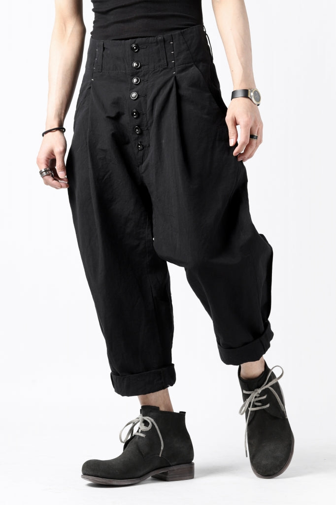 KLASICA SABRON(NW) WIDE TAPERED TROUSERS / TRI MIX HIGH DENSITY PLAIN
