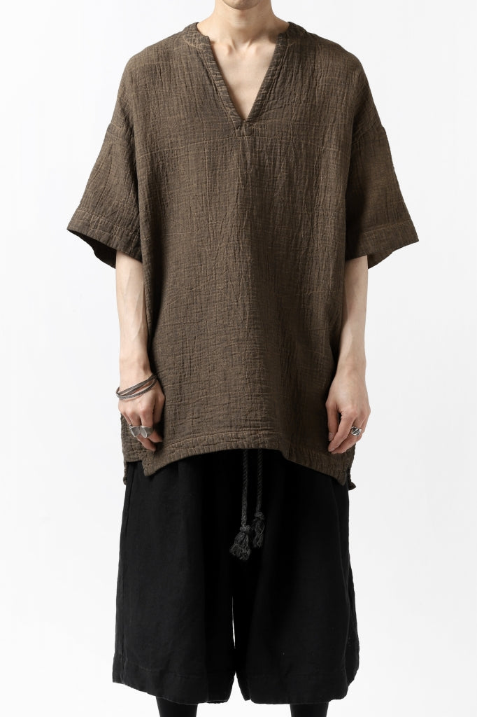 _vital exclusive minimal tunica tops / persimmon dyed linen
