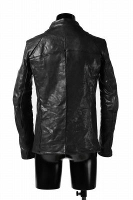 incarnation exclusive SINGLE ZIP JACKET / HORSE FULL GRAIN (BLACK EDITION)
