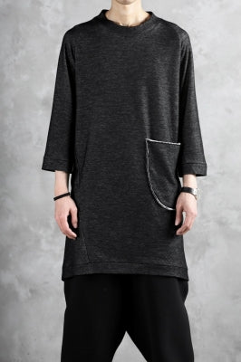 SOSNOVSKA exclusive DOUBLE JERSEY TOPS with PATCH DETAIL