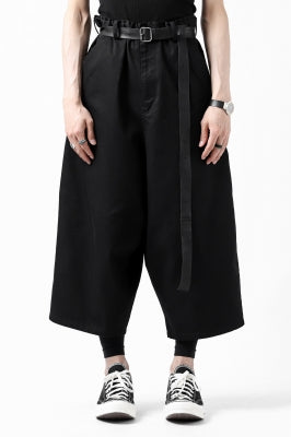 Y's WIDE SARROUEL CROPPED PANTS / SOFT TWILL