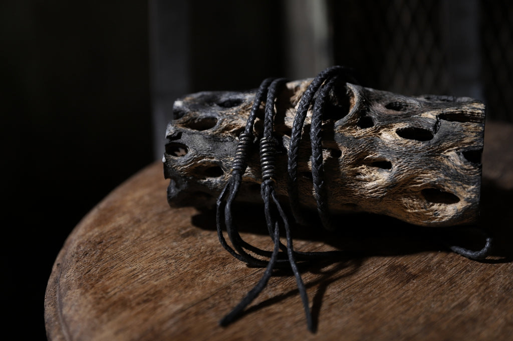 BLOW by JUN UEZONO exclusive HANDBRAID LEATHER CORD WITH BARREL