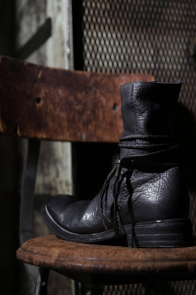 incarnation exclusive BUFFALO LEATHER HAND STITCH SIDE ZIP BOOTS