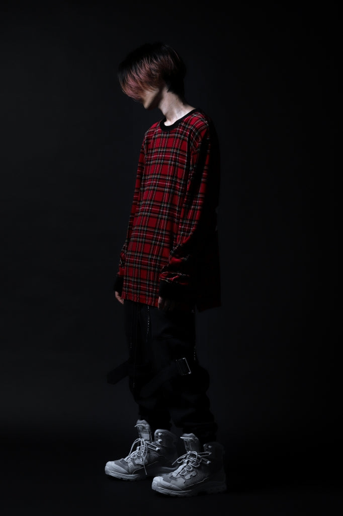 Recommended   mastermind JAPAN - KNITSEWN TOPS (TARTAN CHECK)