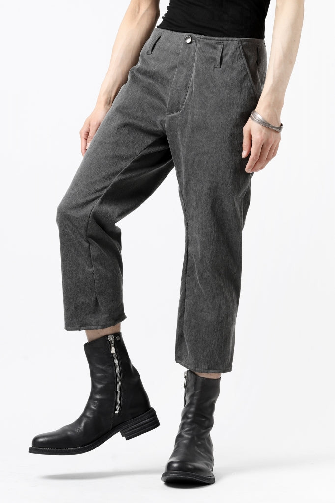 [ Pants ] incarnation exclusive LONG DARTS CROPPED PANTS / EXPANDED WOVEN Price / ¥Open Price ( *販売価格はお問合せ下さいませ。 ) Size / S,M (*Fittng;S) Color / Grey Material / Woven (Cotton,Nylon ,Elastane)