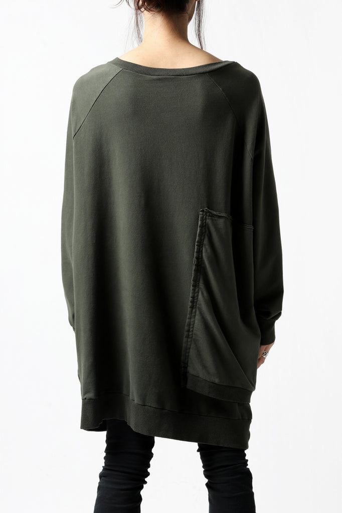 Pxxx OFF by PAL OFFNER ASYMMETRC LONG SWEAT SHIRT
