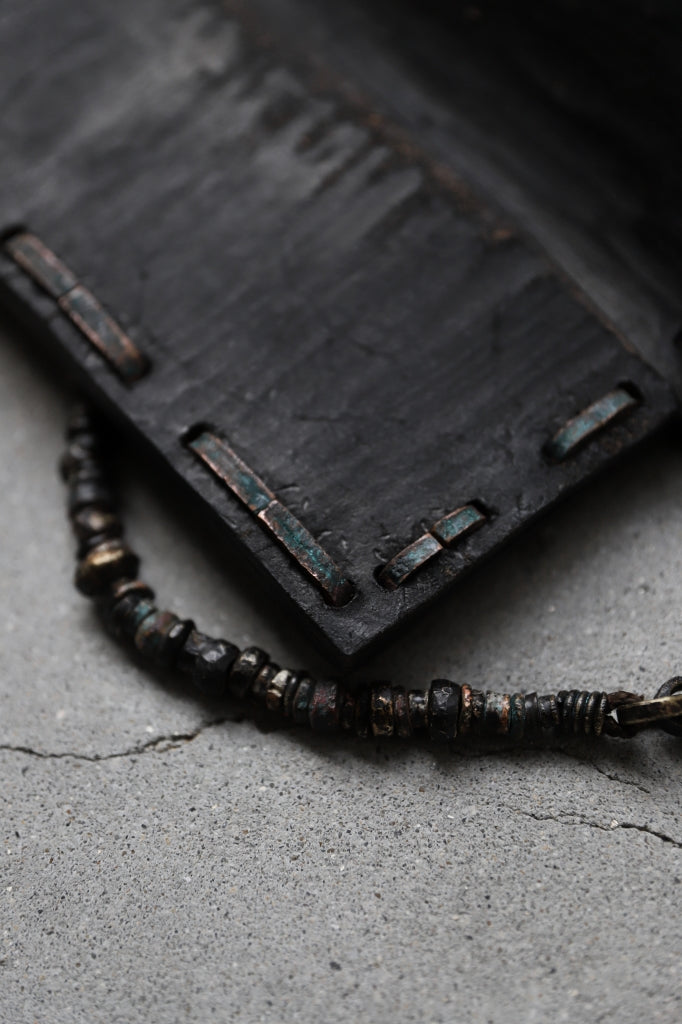 """BLOW THE WILD BRASSES HANDFORGED by JUN UEZONO """"WILD WALLET/BEADS CORD"""