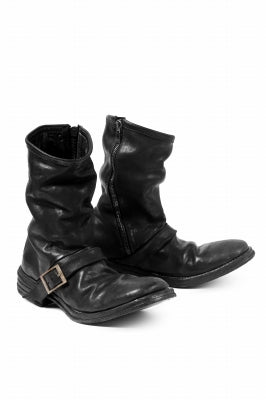 incarnation x LOOM exclusive HORSE LEATHER ENGINEER SIDE ZIP BOOTS (BLACK)
