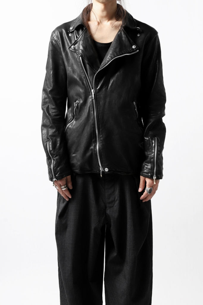 BACKLASH THE LINE DOUBLE BREASTED JACKET / ITALY CALF