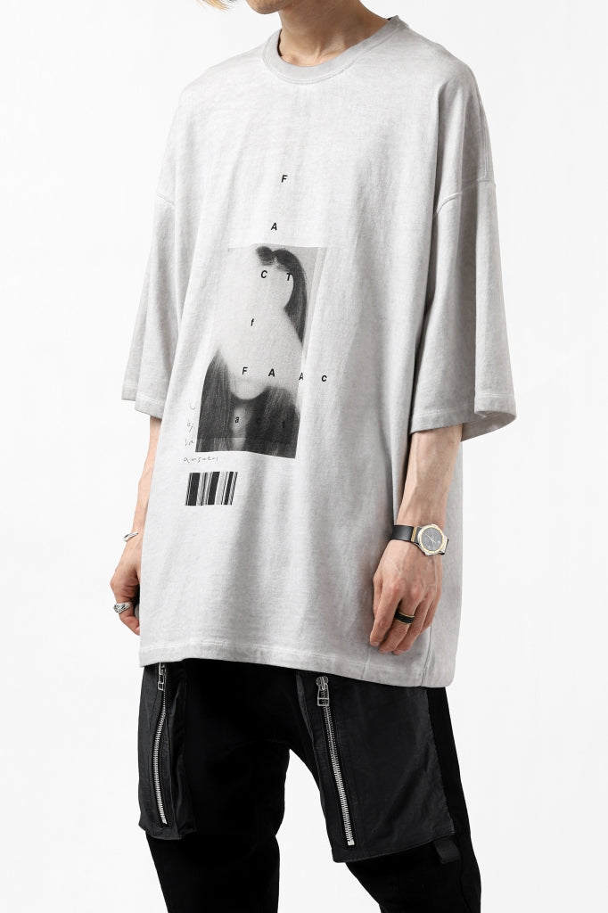 """A.F ARTEFACT """"TWINS"""" ICE DYEING LOOSEY T-SHIRT"""