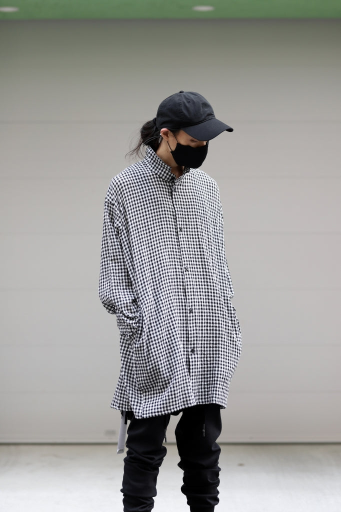 "A.F ARTEFACT ""GARDENER"" LONG CHECK SHIRT"
