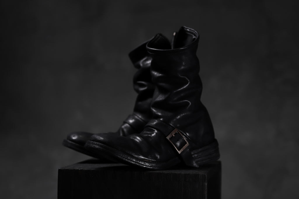 incarnation x LOOM exclusive HORSE LEATHER ENGINEER SIDE ZIP BOOTS