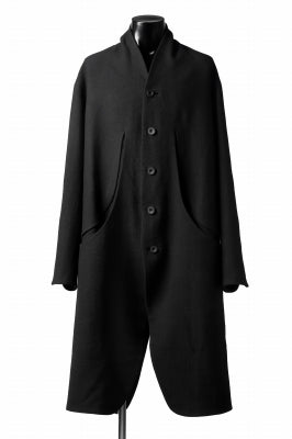 SOSNOVSKA OVAL WOOLEN COAT (BLACK)