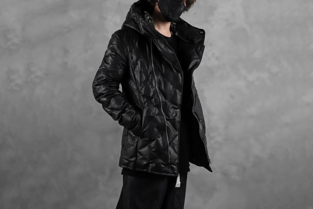 BACKLASH THE LINE exclusive HOODED DOWN JACKET / GUIDI CALF + POLISH WHITE GOOSE