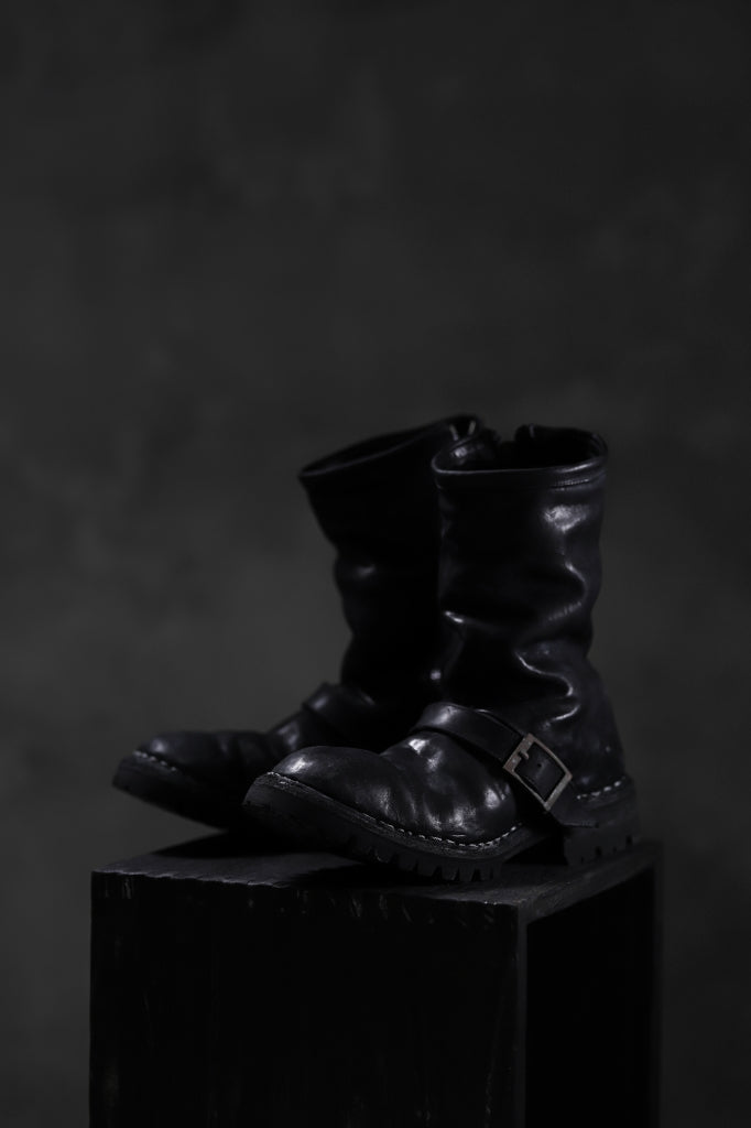 incarnation x LOOM exclusive HORSE LEATHER ENGINEER SIDE ZIP BOOTS / VIBRAM GOODYEAR WELTED