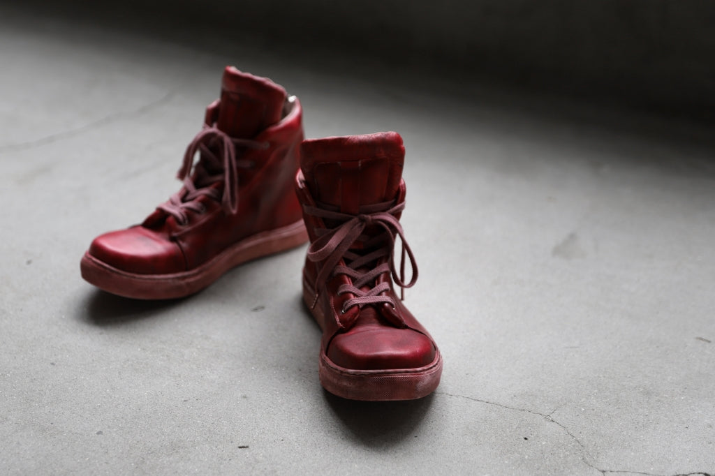 Portaille exclusive LEX-DIVO HAND-DYEING HIGHTOP SNEAKERS