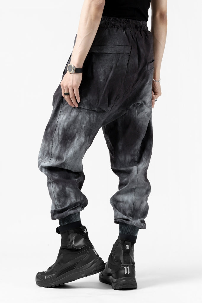 thomkrom DRAWSTRINGS CARGO TROUSERS / DYEING WOVEN ELASTIC