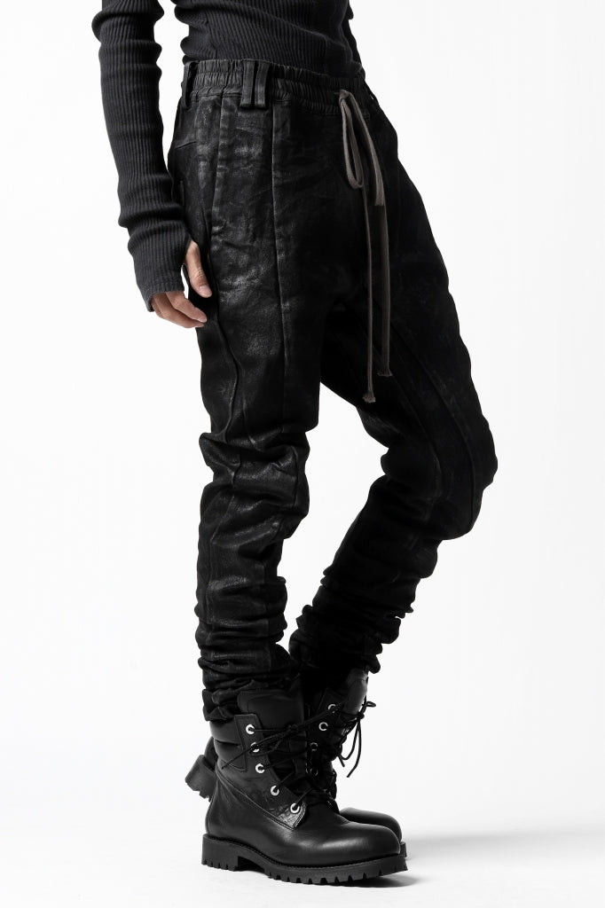 A.F ARTEFACT ANATOMICAL FITTED LONG PANTS / COATED STRETCH DENIM