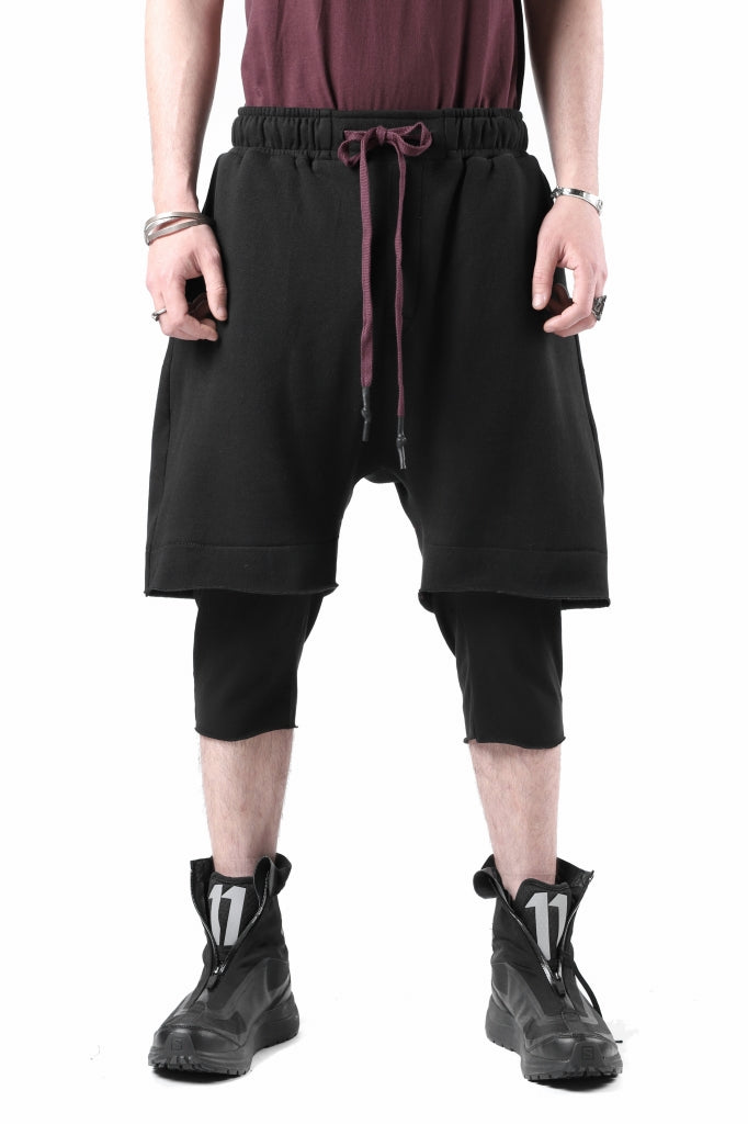 FIRST AID TO THE INJURED LAYERED SHORT PANTS / FRENCH TERRY + JERSEY