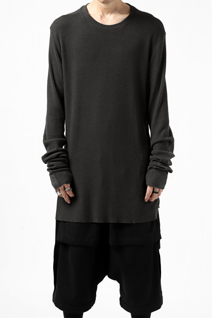 thomkrom LONG SLEEVE TOPS / STRETCH MIXED UP RIB