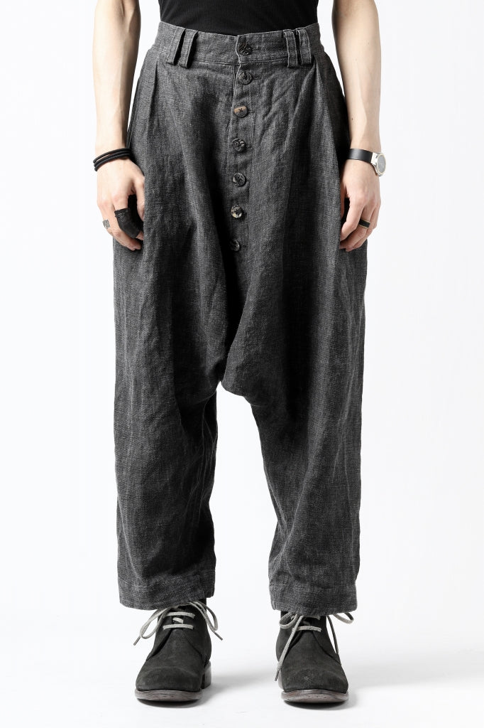 _vital low clotch wide pants (SUMI INK DYED)