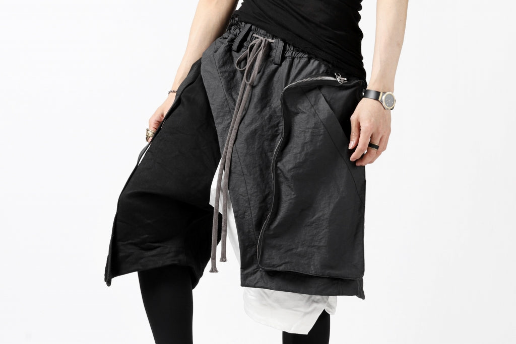 """A.F ARTEFACT """"COVER"""" SLASHED LAYER SHORTS"""