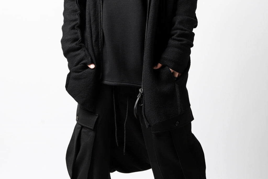 LEON EMANUEL BLANCK exclusive DISTORTION ZIPPED HOODY JACKET / MERINO KNIT
