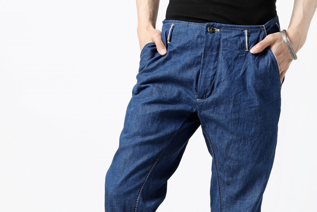 incarnation exclusive LONG DARTS CROPPED PANTS / 6.5oz SELVEDGE CHAMBRAY